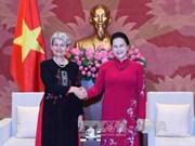 国会主席阮氏金银会见联合国教科文组织总干事伊琳娜•博科娃