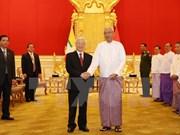 越共中央总书记阮富仲向缅甸总统吴廷觉致感谢电