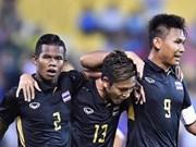 第29届东南亚运动会男足比赛:泰国队以1比0击败缅甸队 晋级决赛