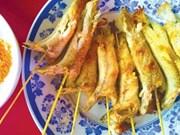 香辣味的烤椰子深虾虎鱼