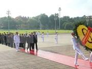 九·二国庆节72周年:党和国家领导人入陵瞻仰胡志明主席遗容