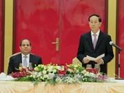 越南国家主席陈大光设宴招待埃及总统