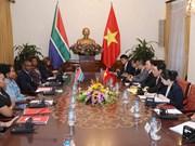 范平明与南非外交部长举行会谈