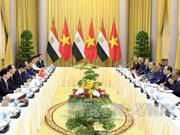 埃及总统访问越南 双方发表联合新闻公报