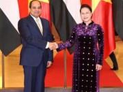 国会主席阮氏金银会见埃及总统塞西