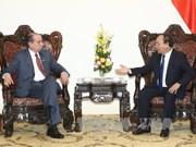 越南政府总理阮春福会见巴西外交部部长