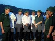 """郑庭勇副总理视察乂安省台风""""杜苏芮""""防御工作"""
