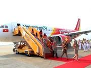 """台风""""杜苏芮""""来袭 越捷航空公司调整部分受影响航班"""