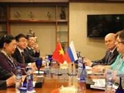 越南国会副主席丛氏放会见俄罗斯国家杜马副主席奥莉加叶皮凡诺娃