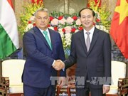 陈大光和阮氏金银会见匈牙利总理维克多•奥尔班