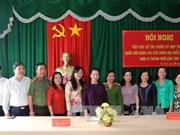 越南国会主席阮氏金银与芹苴市丰田县选民接触