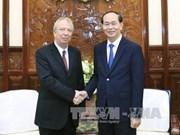 越南国家主席陈大光会见离任前来辞行拜会的保加利亚驻越大使叶夫根尼