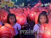 平顺省举行2017年潘切提灯笼游行庆中秋