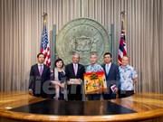越南驻美国大使范光荣走访美国夏威夷州和美国太平洋司令部