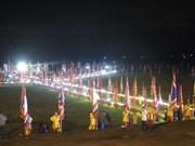 2017年昆山—劫泊秋季庙会祈安法会和放花灯活动吸引数万人参加