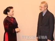 越南国会主席阮氏金银会见伊朗伊斯兰议会议长拉里贾尼