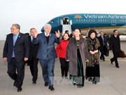 越南国会主席阮氏金银抵达阿斯塔纳  与旅哈萨克斯坦越侨会面