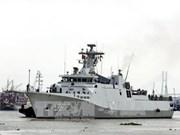 印尼海军舰队对胡志明市进行友好访问