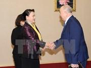 越南国会主席阮氏金银会见哈萨克斯坦人民共产党中央第一书记詹碧尔
