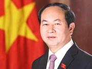 越南国家主席陈大光就葡萄牙中部森林火灾向葡总统马塞洛致慰问电