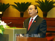 越南第十四届国会第四次会议:阮春福作了2017年经济社会发展计划执行情况的报告