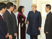 国家副主席邓氏玉盛对立陶宛进行工作访问