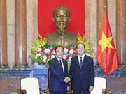 越南国家主席陈大光会见日本埼玉县知事上田清司
