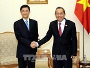 政府副总理张和平会见中国国家安全部副部长唐朝