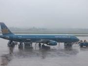 越南航空公司、越捷航空公司因受第十二号台风影响调整航班执行计划