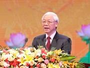 越共中央总书记阮富仲在十月革命胜利100周年纪念典礼上发表讲话