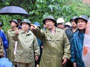 政府副总理郑廷勇赴广南省视察台风受灾情况并指导抗灾救灾工作