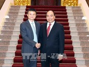 政府总理阮春福会见阿里巴巴总裁马云
