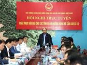 政府总理阮春福:各部门和地方需努力确保受灾群众生产生活秩序稳定
