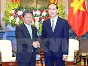 国家主席陈大光会见日本经济产业大臣兼经济振兴大臣茂木敏充