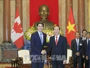 国家主席陈大光会见加拿大总理特鲁多