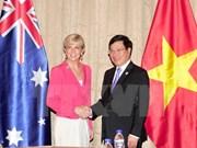 越南外交部长范平明会见澳大利亚外长毕晓普