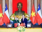 国家主席陈大光与智利总统米歇尔·巴切莱特举行会谈