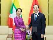 APEC 2017: 越南国家主席陈大光会见缅甸国家顾问昂山素季