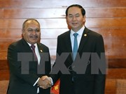2017年APEC会议:陈大光会见巴布亚新几内亚总理彼得·奥尼尔