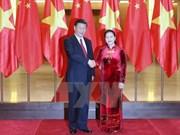 越南国会主席阮氏金银会见中共中央总书记、国家主席习近平