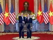 越南国家主席陈大光与美国总统特朗普举行会谈
