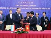 越南与卢森堡签署合作框架协议