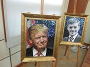 """""""2017年APEC各经济体领导人肖像""""陶瓷拼贴画展即将在河内开展"""