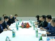 政府副总理兼外交部长范平明分别会见挪威和爱尔兰外交部长