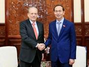 越南国家主席陈大光会见乌拉圭驻越大使
