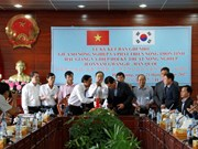后江省与韩国全罗南道 -光州农业技术协会加强农业合作