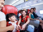 2017年河内市促销月:越捷航空推出70万张零越盾起的国内机票