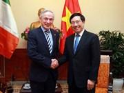 范平明会见爱尔兰教育和技能部长理查德·布鲁顿