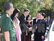 阮氏金银会见越南驻澳大使馆工作人员与旅澳越南人代表