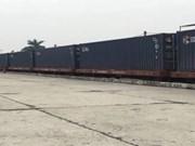首趟越南至中国集装箱货运班列开行